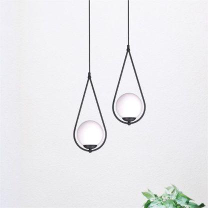 designerska lampa wisząca biel czerń