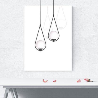 skandynawska lampa wisząca białe szkło