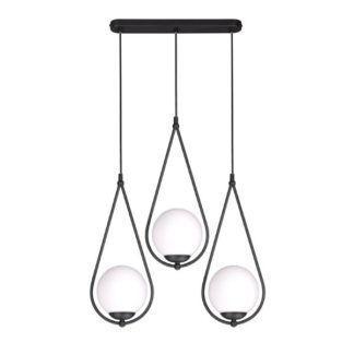 Podłużna lampa wisząca Neve - szklane klosze
