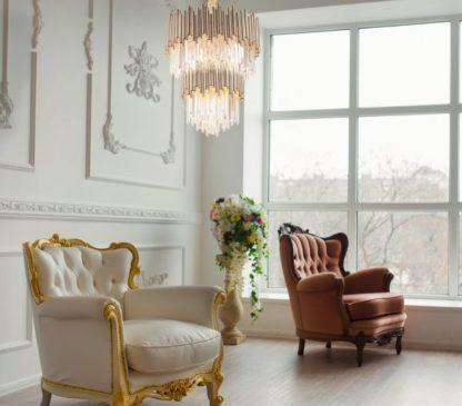 luksusowy żyrandol aranżacja salon