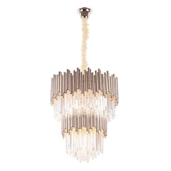 Duża lampa wisząca Vogue - kryształy, glamour
