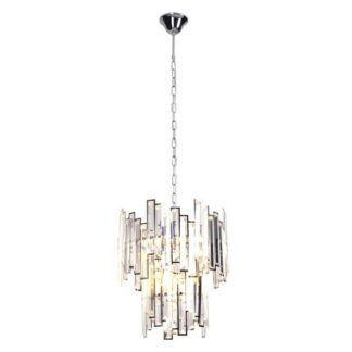 Luksusowa lampa wisząca Nemo - srebrna, kryształki