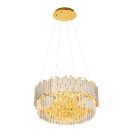 złoty żyrandol kryształowy
