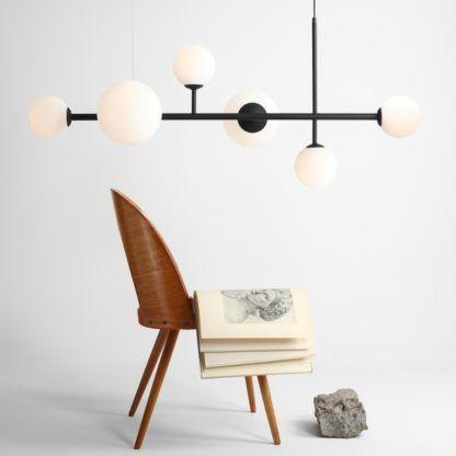 nowoczesna lampa wisząca białe kule