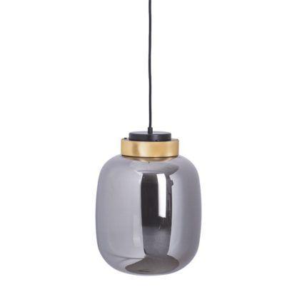 szklana lampa szara blyszczaca