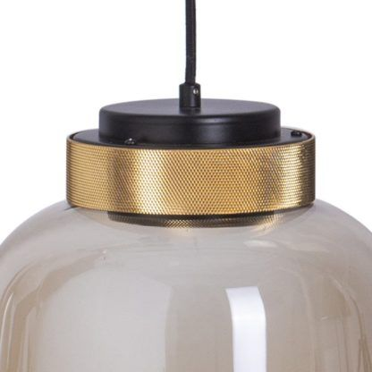 bursztynowa lampa szklana owalna