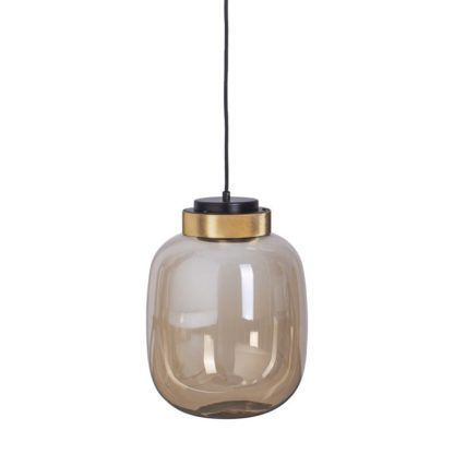 lampa wisząca bursztynowa szklana