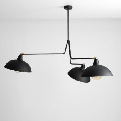 czarny żyrandol loftowy metalowy
