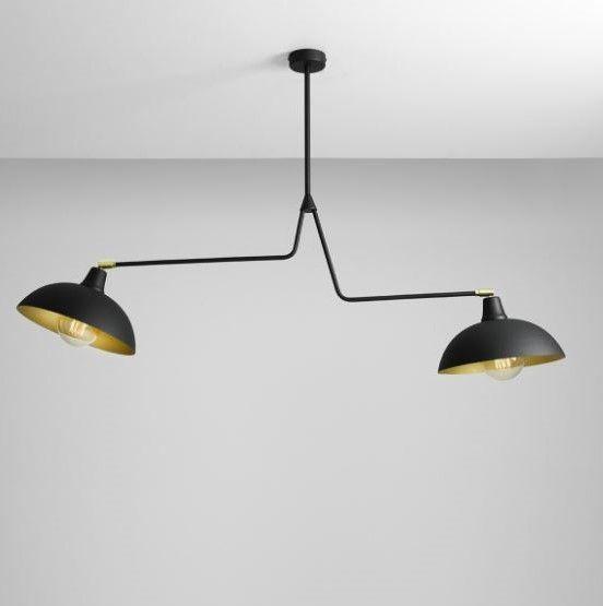 loftowa lampa wisząca regulowane klosze