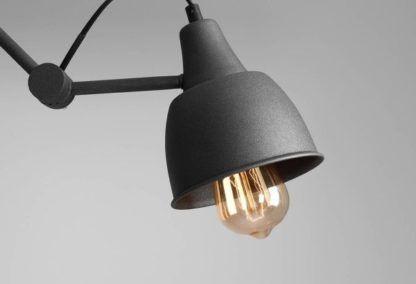 grafitowa lampa wisząca industrialna