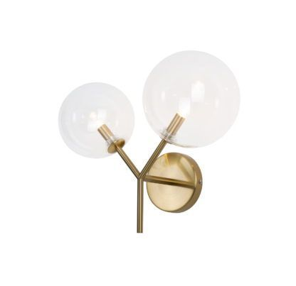 złoty kinkiet kule do salonu łazienki
