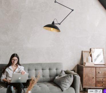 Metalowa lampa sufitowa Melos - czarna, złota