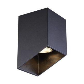 Lampa sufitowa Quby - czarna, geometryczna
