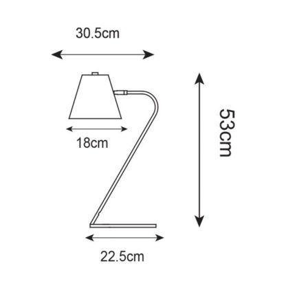 Nowoczesna lampa biurkowa Expir - biała