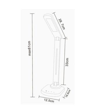 Lampa biurkowa Table - czarna, nowoczesna