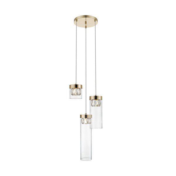 szklana lampa wisząca aranżacja salon