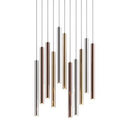 lampa wisząca metaliczne klosze