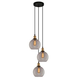 Loftowa lampa wisząca New York - 3 klosze, kule