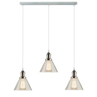 Lampa wisząca New York Loft No. 1 - szklane klosze, chrom
