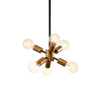 Molekularna lampa wisząca Grin - złota