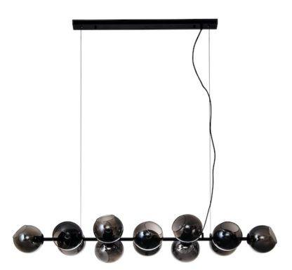 podłużna lampa wisząca szklane kule