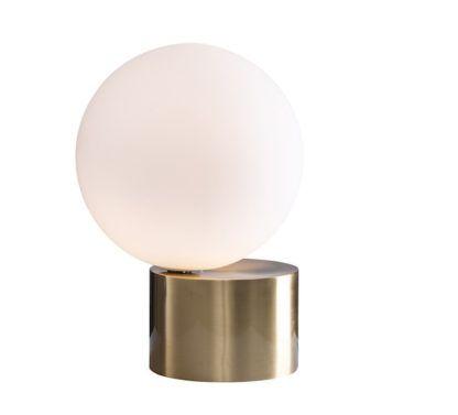 nowoczesna lampa stołowa złota