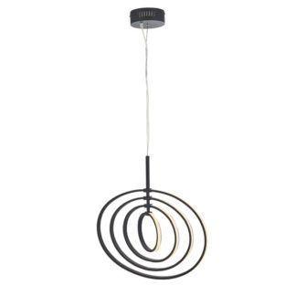 Czarna lampa wisząca Avali - LED