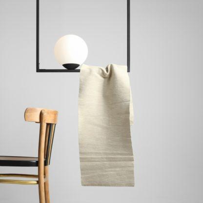 biało-czarna lampa wisząca nowoczesna
