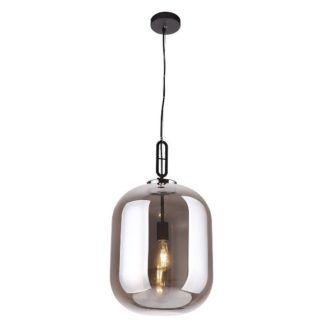 Duża lampa wisząca Honey - szklany klosz, szara