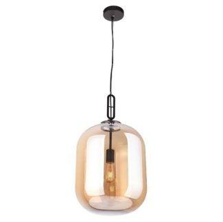 Lampa wisząca Honey - szklana, bursztynowa