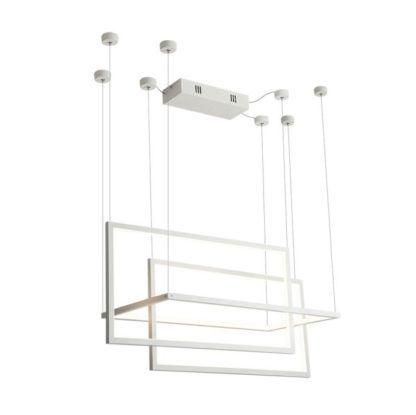 biała lampa wisząca geometryczna duża