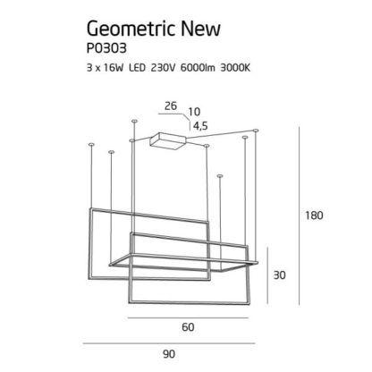 Biała lampa wisząca Geometric - LED, 3000K