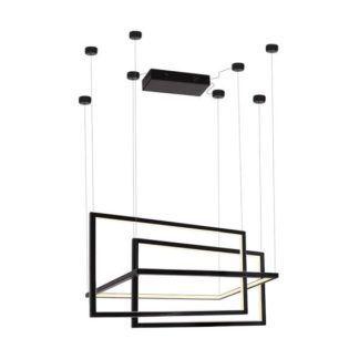 Lampa wisząca Geometric - czarna, ściemnialna