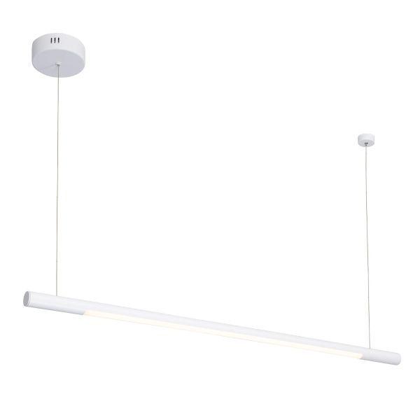 Ledowa lampa wisząca Organic - biała, podłużna