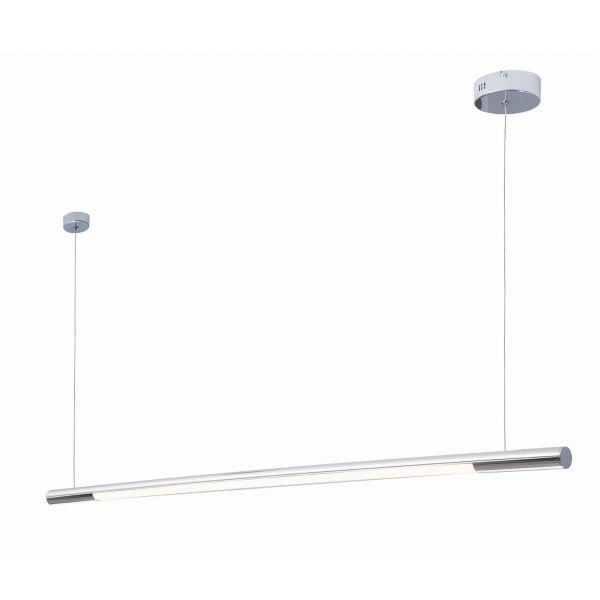 Podłużna lampa wisząca Organic - chrom, LED