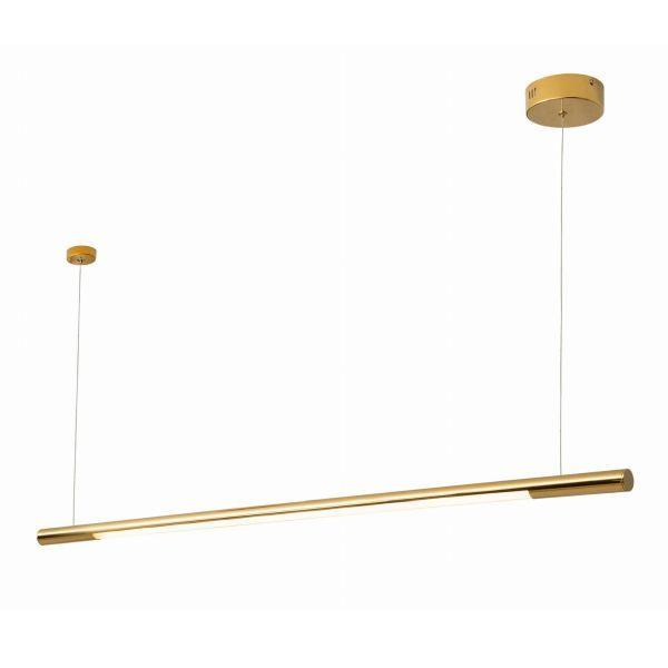 Złota lampa wisząca Organic - podłużna, LED, 3000K