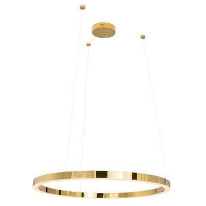 złoty ring ledowa lampa wisząca