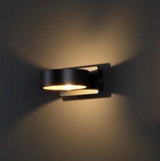 Okrągły kinkiet Tokyo - LED, czarny