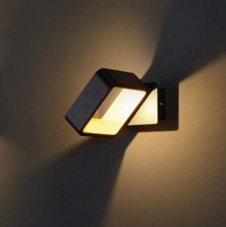 Designerski kinkiet Toyo - czarny, LED