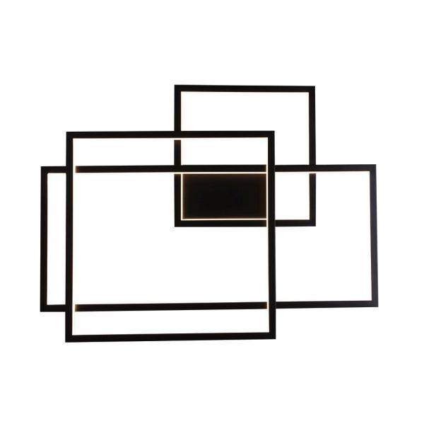 Czarny kinkiet Geometric - nowoczesny, LED
