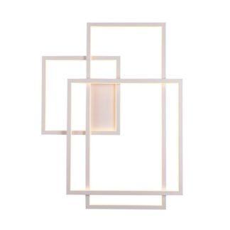 Biały kinkiet Geometric - LED, ściemnialny