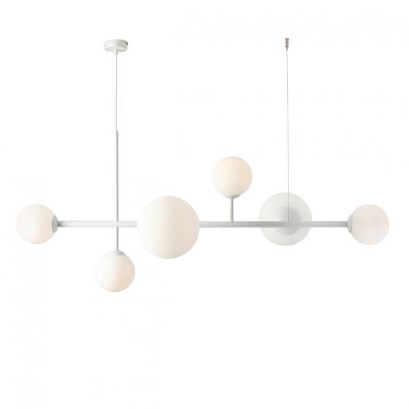 biała lampa wisząca molekularna