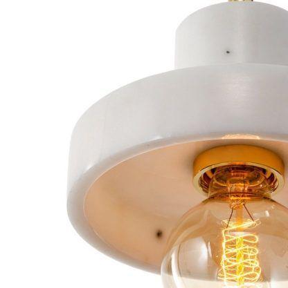 Marmurowa lampa wisząca Uno - scandi chic
