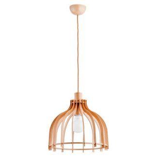 Drewniana lampa wisząca Edgar - ażurowa