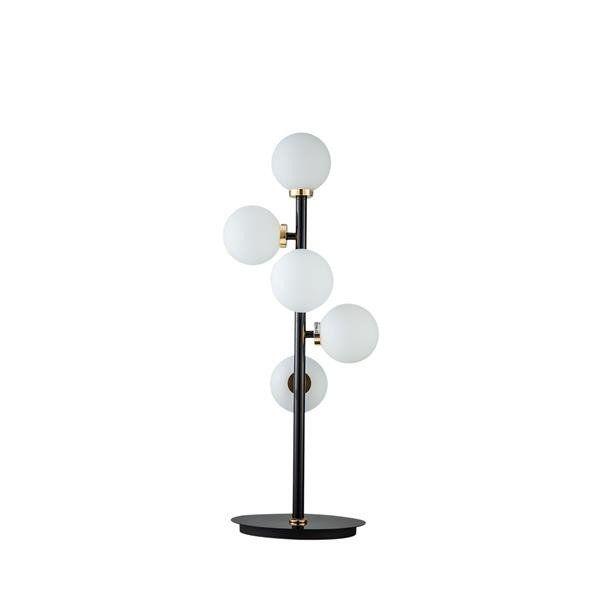 lampa stołowa czarna klosze kule