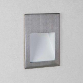 Kinkiet Borgo 90 - LED, IP65, szczotkowana stal