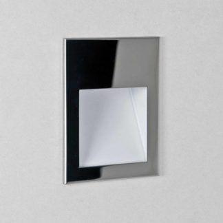 Srebrny kinkiet Borgo 90 - LED, IP65
