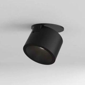 Czarny spot Lynx - LED, nowoczesny, wpuszczany