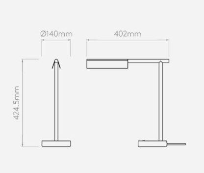 Biała lampa biurkowa Fold - matowa, LED