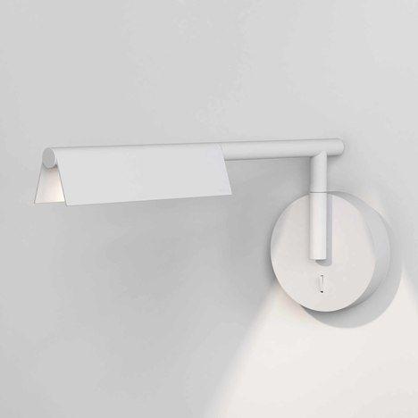 Biały kinkiet Fold - matowy, LED
